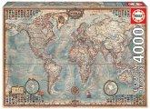 Carletto 9214827 - Educa, Historical World Map, Weltkarte, Puzzle, 4000 Teile