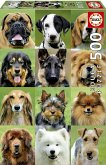 Carletto 9217963 - Educa, Dogs Collage, Hunde-Collage, Puzzle, 500 Teile
