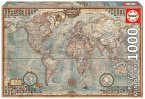 Carletto 9216764 - Educa, Miniature Map of the World, Puzzle, 1000 Teile