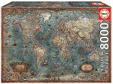 Carletto 9218017 - Educa, Historical World Map, Weltkarte, Puzzle, 8000 Teile