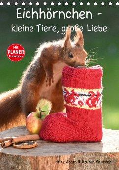 Eichhörnchen - kleine Tiere, große Liebe (Tischkalender 2021 DIN A5 hoch)