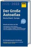 Großer ADAC Autoatlas 2021/2022, Deutschland 1:300 000, Europa 1:750 000