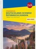 Falk Straßenatlas Deutschland, Schweiz, Österreich, Europa 2021/2022 1 : 300 000