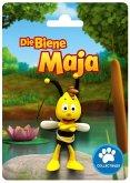 Bullyland 43421 - Biene Maja, Willi auf Karte, Spielfigur, 6cm