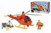 Simba 109251077 - Feuerwehrmann Sam Hubschrauber Wallaby mit Figur