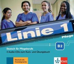 Pflege B2 - Medienpaket, 4 Audio-CD / Linie 1 - Bolte-Costabiei, Christiane; Grosser, Regine; Ransberger, Karin; Sass, Anne; Scheffler, Birthe; Schümann, Anja