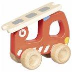Goki 55880 - Feuerwehr Leiterwagen, Holz, 15 cm