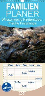 Wildschweins Kinderstube - Freche Frischlinge - Familienplaner hoch (Wandkalender 2021 , 21 cm x 45 cm, hoch)