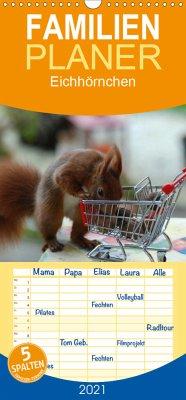 Spaß mit Eichhörnchen! - Familienplaner hoch (Wandkalender 2021 , 21 cm x 45 cm, hoch)