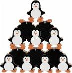 Goki 58683 - Stapelfiguren Pinguine, Stapelspiel, Holz, 18 Teile