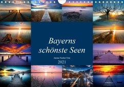 Schöne Seen in Bayern (Wandkalender 2021 DIN A4 quer)