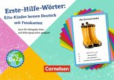 Deutsch lernen mit Fotokarten - Kita / Erste-Hilfe-Wörter