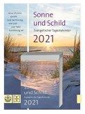 Sonne und Schild 2021. Abreißkalender