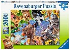 Lustige Bauernhoftiere (Kinderpuzzle)