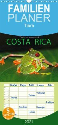 COSTA RICA - Tierische Momente - Familienplaner hoch (Wandkalender 2021 , 21 cm x 45 cm, hoch)