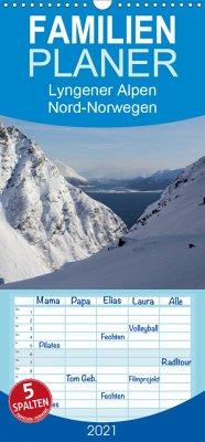 Lyngener Alpen Nord-Norwegen - Familienplaner hoch (Wandkalender 2021 , 21 cm x 45 cm, hoch)