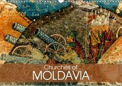 Churches of Moldavia (Wall Calendar 2021 DIN A3 Landscape)