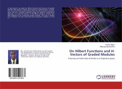 On Hilbert Functions and H-Vectors of Graded Modules