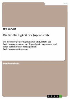 Die Sinnhaftigkeit der Jugendstrafe (eBook, PDF)