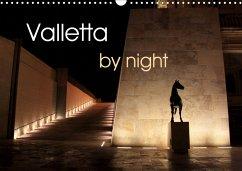 Valletta by night (Wall Calendar 2021 DIN A3 Landscape)