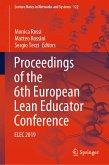 Proceedings of the 6th European Lean Educator Conference (eBook, PDF)