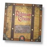 Pegasus POP00394 - Robinson Crusoe, Treasure Chest (EN), Brettspiel, Kartenspiel
