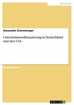 Unternehmensfinanzierung in Deutschland und den USA (eBook, PDF)