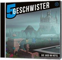 5 Geschwister - Die Jagd im Hotel, Audio-CD - Schuffenhauer, Tobias; Schier, Tobias