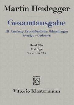 Vorträge - Heidegger, Martin
