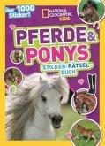 Pferde & Ponys Sticker-Rätsel-Buch mit über 1000 Stickern