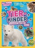 Tierkinder Sticker-Rätsel-Buch mit über 1000 Stickern