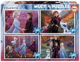 Carletto 9218640 - Educa, Disney, Frozen 2, Multi 4 Puzzle, 50/80/100/150 Teile