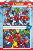Carletto 9218648 - Educa, Marvel, Super Hero, Puzzle, 2x20 Teile