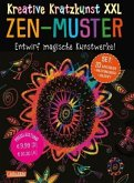 ZEN-Muster XXL: Set mit 20 Kratztafeln, Mappe, Anleitungsbuch und Holzstift / Kreative Kratzkunst XXL Bd.2 (Restauflage)