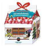 Trötsch Der kleine Maulwurf Adventskalender Haus mit 24 Minibüchern