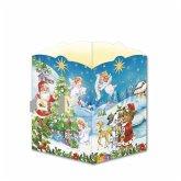 Trötsch Postkarte zum Aufstellen Windlicht-Adventskalender Nostalgisch
