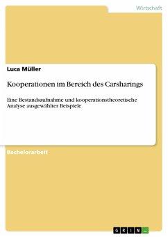 Kooperationen im Bereich des Carsharings (eBook, PDF)