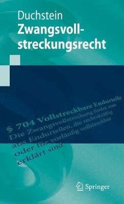 Zwangsvollstreckungsrecht (eBook, PDF) - Duchstein, Michael