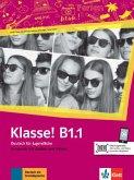 Klasse! B1.1. Kursbuch mit Audios und Videos