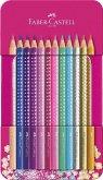 Faber-Castell Buntstifte Pinkes Sparkle, 12er Metalletui