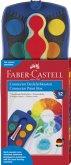 Faber-Castell Farbkasten Connector, blau,12 Farbenplus Deckweiß