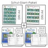Mein Schul-Start-Paket, 2 Lernposter DIN A4 + 2 Schreiblernhefte