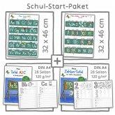 Mein Schul-Start-Paket, 2 Lernposter 32 x 46 cm + 2 Schreiblernhefte DIN A4