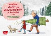 Die schönsten Winter- und Weihnachtslieder im Kamishibai. Kamishibai Bildkartenset.