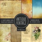 Antique Vintage Scrapbook Paper Pad 8x8 Decorative Scrapbooking Kit Collection for Cardmaking, DIY Crafts, Creating, Old Style Theme, Multicolor Designs
