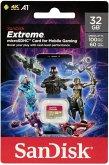 SanDisk Extreme microSD 32GB Mobile Gaming SDSQXAF-032G-GN6GN