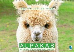 Alpakas: Wuschelköpfe aus den Anden - Edition lustige Tiere (Wandkalender 2021 DIN A3 quer)