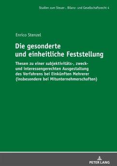 Die gesonderte und einheitliche Feststellung - Stenzel, Enrico