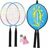 Schildkröt 970901 - Kinder Federball Set Junior, 2 Schläger + 2 Federbälle
