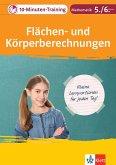 Klett 10-Minuten-Training Mathematik Flächen- und Körperberechnungen 5./6. Klasse (eBook, PDF)